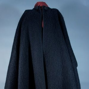VINTAGE YSL MOHAIR WOOL CAPE
